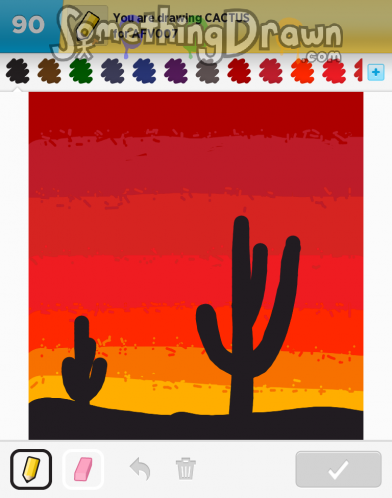 Somethingdrawn Com Cactus Drawn By Luba P On Draw Something