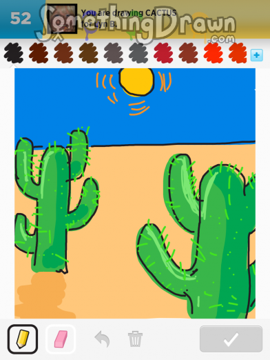 Somethingdrawn Com Cactus Drawn By Sparkles On Draw Something