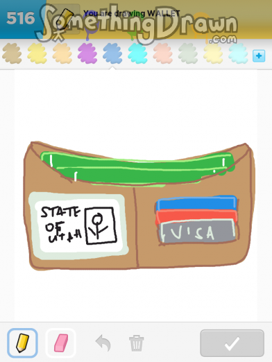 how to draw on a wallet