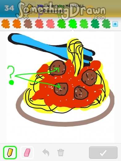 Somethingdrawn Com Draw Something Drawings Of Meatball On Draw