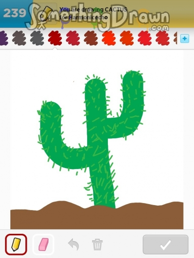 Somethingdrawn Com Cactus Drawn By Valerie V On Draw Something