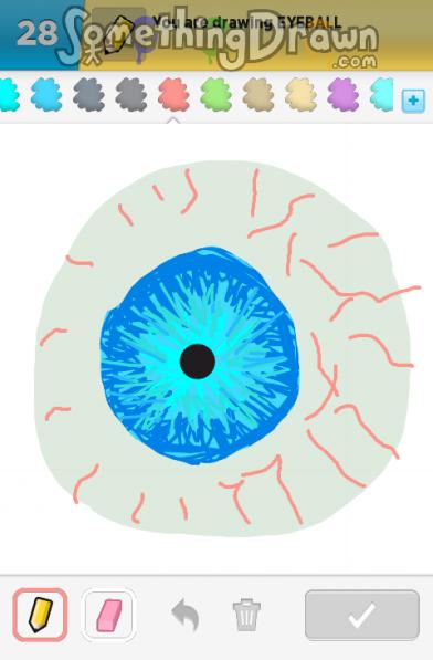 Somethingdrawn Com Eyeball Drawn By Sarah L On Draw Something