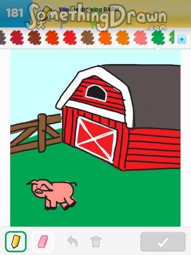 Somethingdrawn Com Barn Drawn By Scramalama On Draw Something