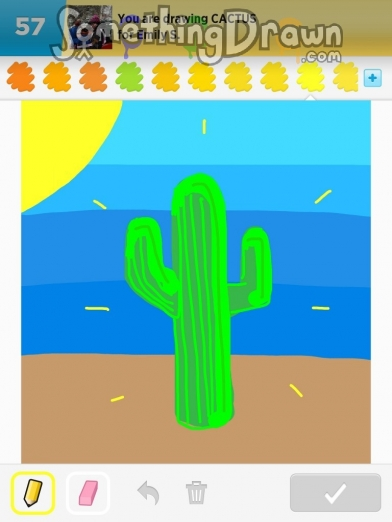 Somethingdrawn Com Cactus Drawn By Lucas C On Draw Something