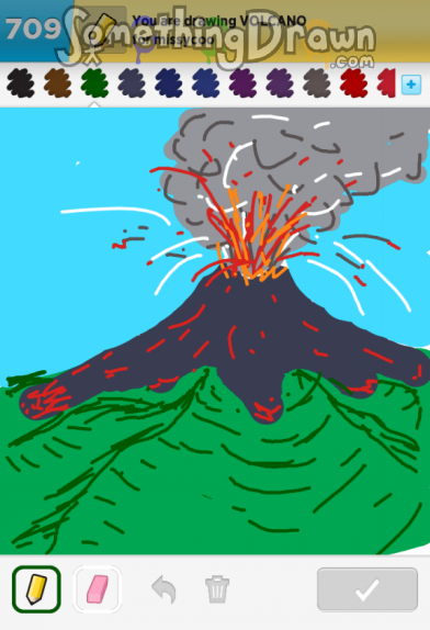 Somethingdrawn Com Draw Something Drawings Of Volcano On Draw