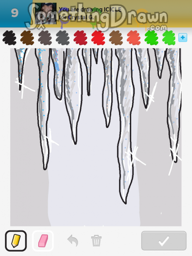 icicles in shaded drawing pictures to pin on pinterest