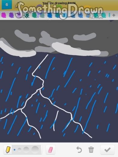SomethingDrawn.com - RAIN drawn by pat on Draw Something