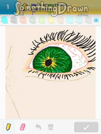 Somethingdrawn Com Eyeball Drawn By Girldotson On Draw Something