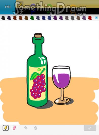 Somethingdrawn Com Draw Something Drawings Of Wine On Draw Something