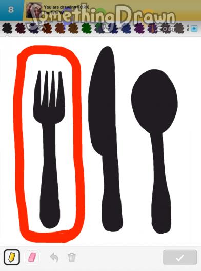 Somethingdrawn Com Fork Drawn By Yordan On Draw Something