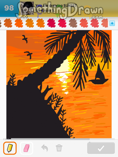 Somethingdrawn Com Draw Something Drawings Of Sunset On Draw Something