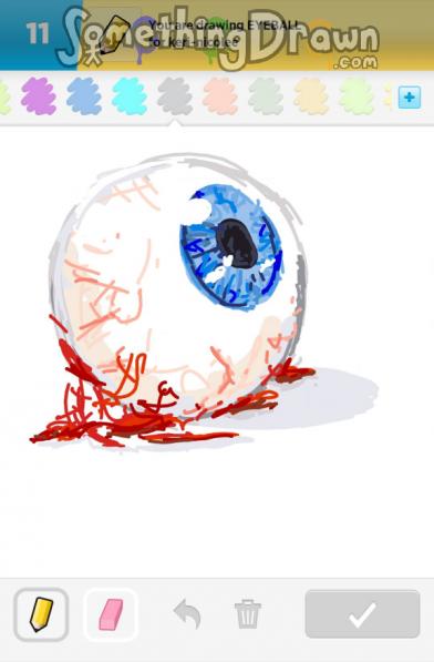 Somethingdrawn Com Eyeball Drawn By Etirz On Draw Something