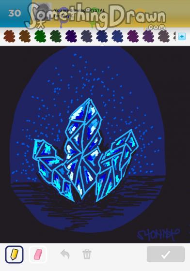 Somethingdrawn Crystal Drawn By Shonnaartist On Draw