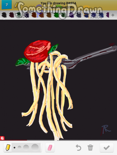Somethingdrawn Com Pasta Drawn By Ninjafoo222 On Draw Something