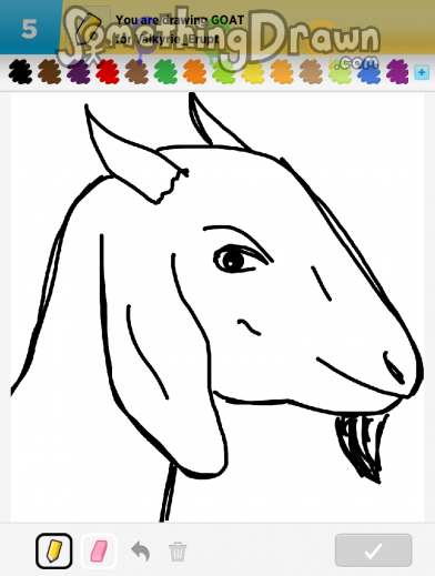 SomethingDrawn com - GOAT drawn by dannydleon on Draw Something