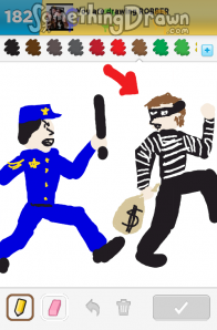 how to draw a robber