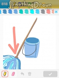 how to draw a mop