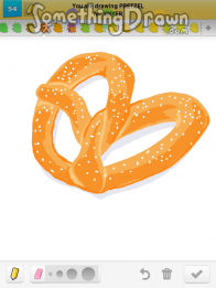 how to draw a pretzel